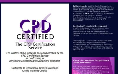 Callisto Grand Certificate in Operational Credit Excellence achieves CPD accreditation.